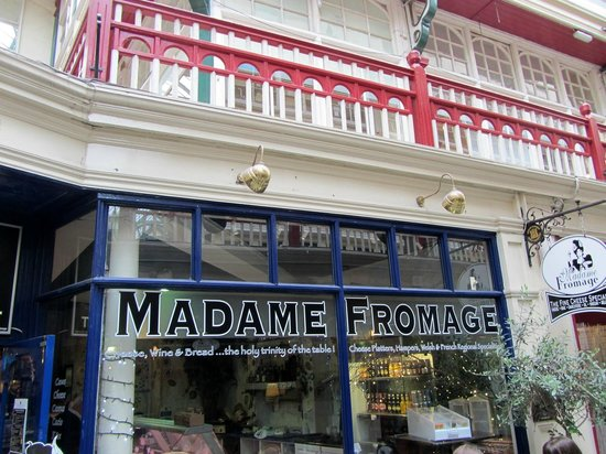 Madame Fromage: The front window of Madam Fromage Cheese Shop & Cafe