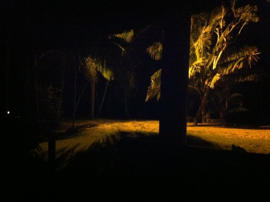 Uprising Beach Resort: View from our Villa at night