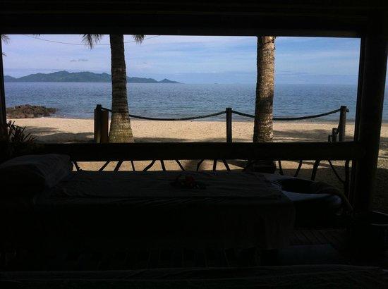 Uprising Beach Resort: View from the massage bure'