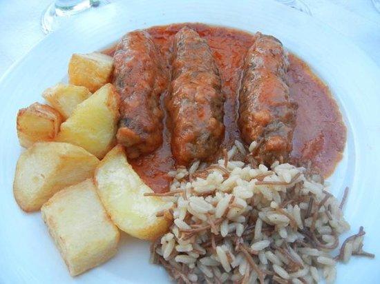 Garden of Taste Tavern : Greek meatballs, potatoes & rice