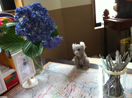 Family Inn Saiko: Fresh hydrangeas picked by a neighbour