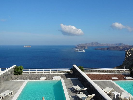 Thermes Luxury Villas: View from the upstairs terrace