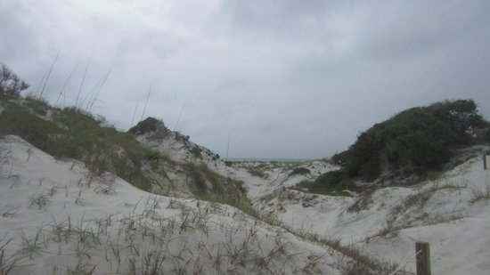 St. Joseph Peninsula State Park: Dunes near the beach by cabins