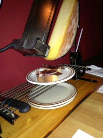 La Savoie: Raclette - Cheese wheel