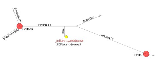 Julia's Guesthouse: Map