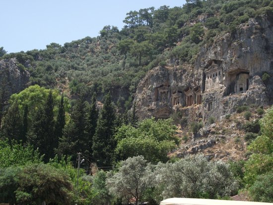 Lycian Rock Tombs, Dalyan, Turkey - Picture of Lycian Rock ...