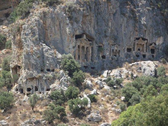 Lycian Rock Tombs, Dalyan, Turkey - Picture of Lycian Rock ...