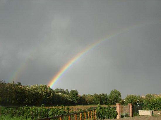 Rainbow over Castiglione della Valle