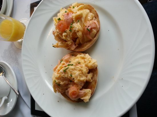 Storrs Gate House: our delicious salmon and scrambled eggs!