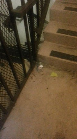 The Inn at Centennial Park: Trash in the stairwell