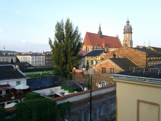 Hostel Abel: Vista dalla finestra della camera