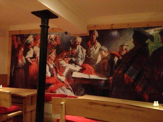 Restaurant Krakow: Mural