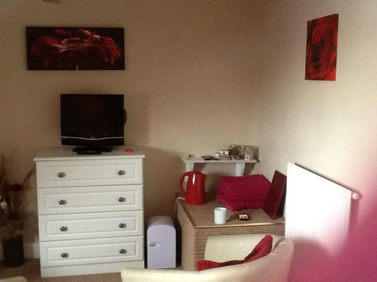 Croyland Guest House: The tv and coffee station