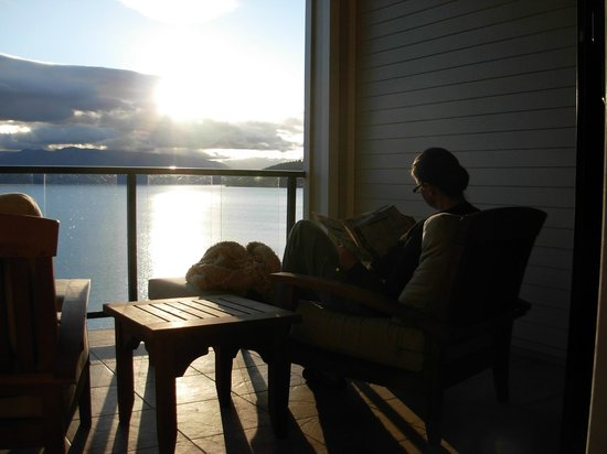 Seasons at Sandpoint: Summer Morning on Balcony