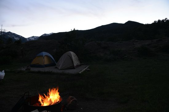 Moraine Park Campground: Site at night