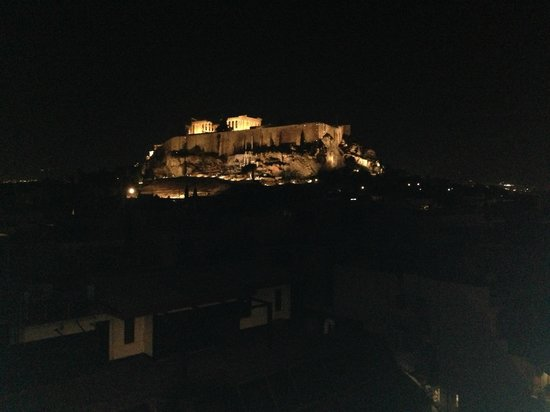 The Athens Gate Hotel: View from the rooftop restaurant/bar