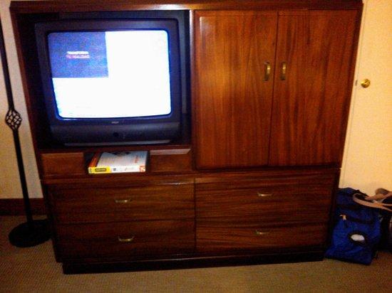 el televisor en el cuarto no era pantalla plana foto di