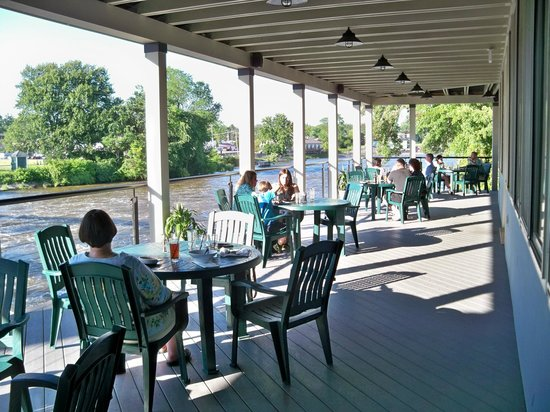 The Suds Factory River Grill Outside Dining Deck Overlooking Seneca