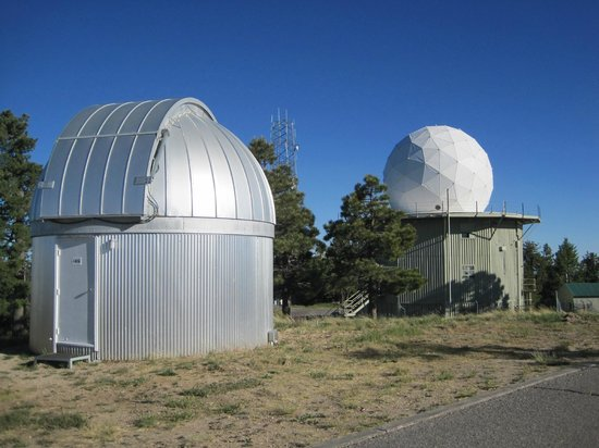 Mt. Lemmon SkyCenter Observatory: Evening View of Two of the World Class Telescopes