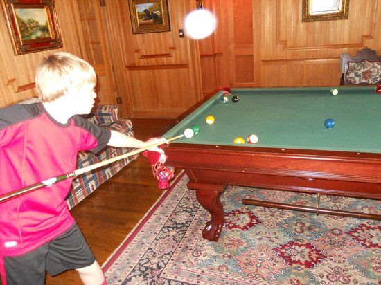 Castle on Silver Lake: Carson playing pool with G'pa Jim