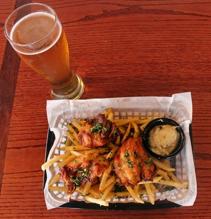 South Gate Brewing Company: Blonde Ale Beer Battered Fish and Chips