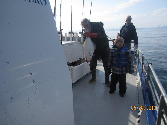 Bob's Trophy Charters - Day Trips : Caleb's First Halibut