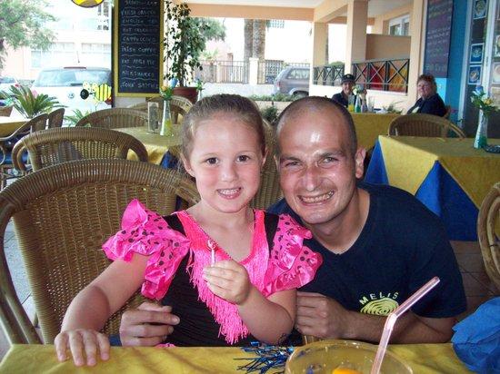 Melis: Olivia's favourite waiter Raul