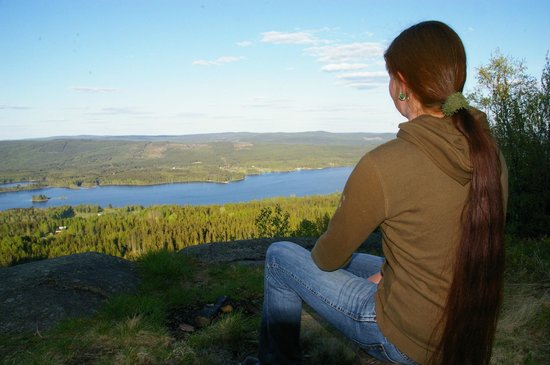 Camping 45: View on lake Övre Brocken from hiking trail