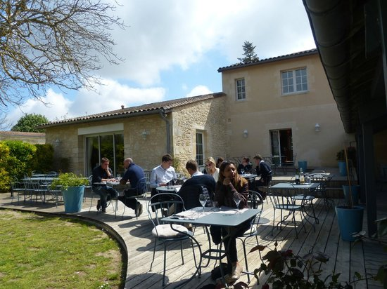 Le Clos Mirande: outside terrace