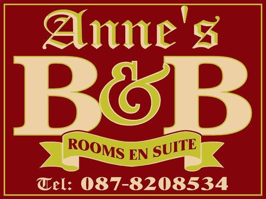 Anne's B&B: External Sign