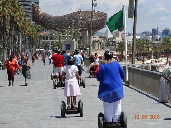 Barcelona Promenade - Picture of Barcelona Segway Glides ...