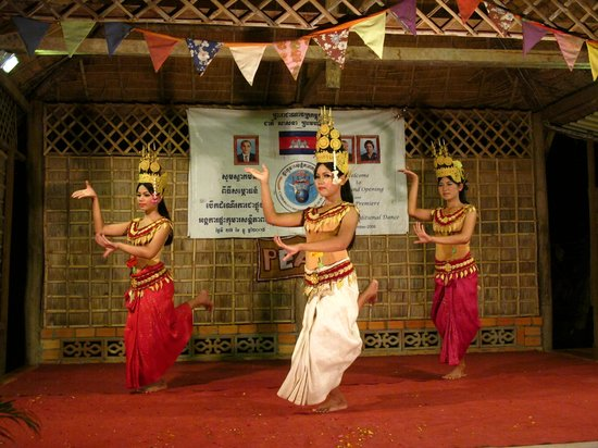 Traditional Khmer Dancing at Cambodian Children's House of Peace