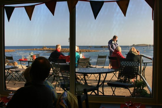 Dibble & Grub: The view out to Porthcressa