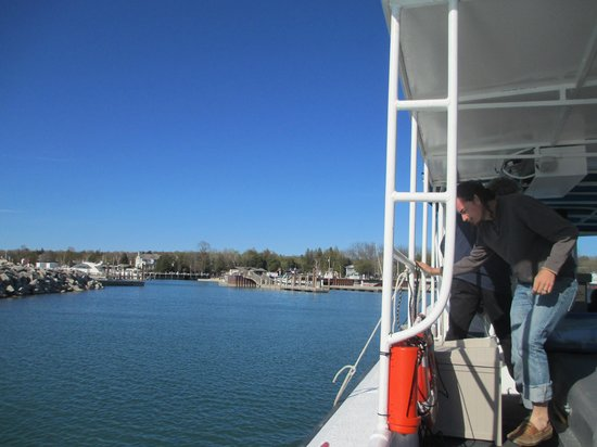 The Shoreline Charters: View from back of boat