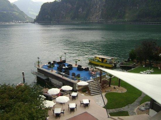 Pilatus Hotel: The deck area
