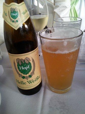 The 3rd Corner : I love that color on a beer. Hopf Helleweiße Heff