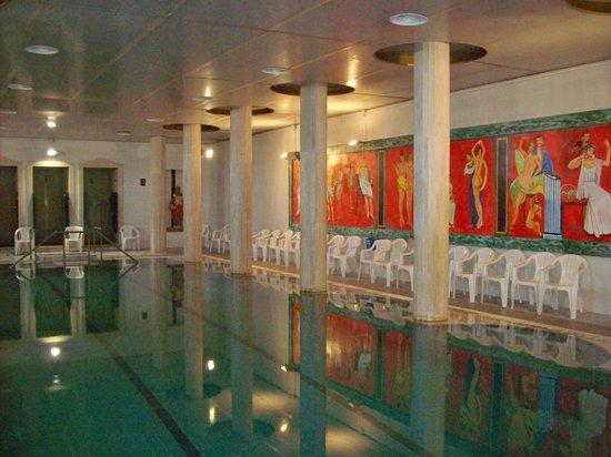 President Hotel Terme: Piscina termale interna a 38°, con annessa sauna