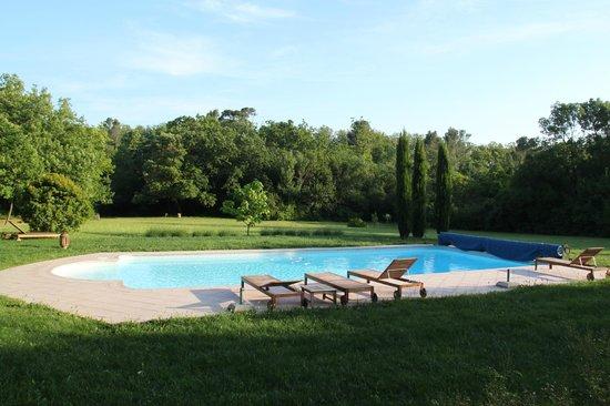 Domaine Saint Pierre de Trapel: Der Pool