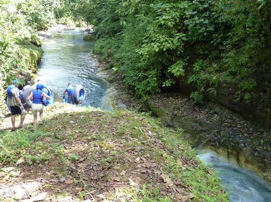 Blue River Hot Springs Eco-Adventure Tours : Water Tubing Rio Azul - blue river
