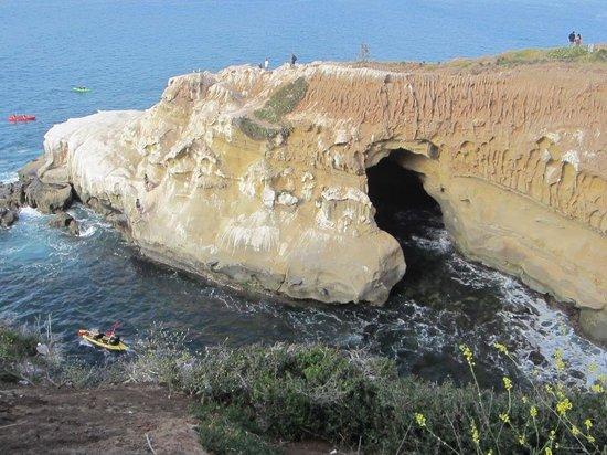 La Jolla Caves: Top view