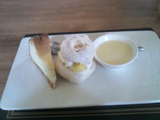 "The Wheatsheaf Inn Restaurant and Bar: ""Trio of Puddings"""
