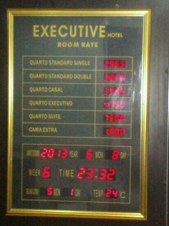 Hotel Executivo: Rates of different Rooms