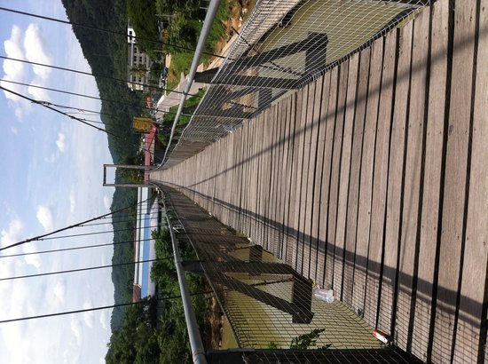Tamparuli Suspension Bridge: A view of the bridge