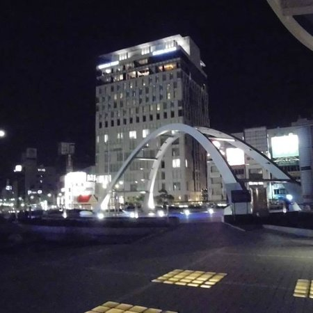 Hotel Associa Toyohashi: the hotel from the opposite side