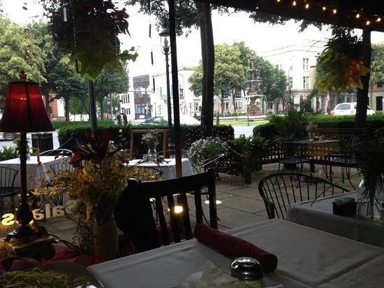 view of outside seating at Cafe d'Italia