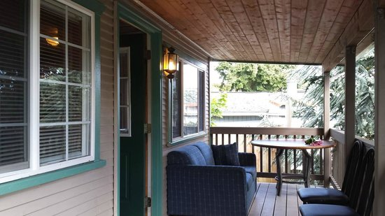 Birch Bay Get Away: The front porch of our cabin