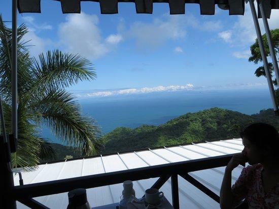 Hotel Villa Caletas: View during breakfast