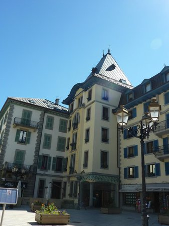 Grand Hôtel des Alpes: the front of the hotel