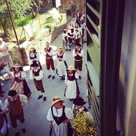 Casa Pei: Maggiolatta Lucignese from front bedroom window