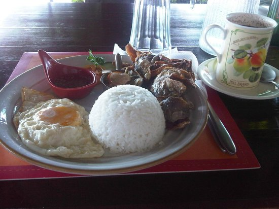 Joaquin's Bed and Breakfast: Danggit and eggs for breakfast